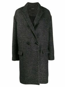 Isabel Marant boxy fit double breasted coat - Grey