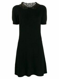 Blumarine embroidered detail dress - Black