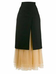 Comme Des Garçons Noir Kei Ninomiya layered midi skirt - Black