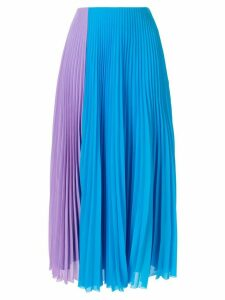 Solace London colour block pleated skirt - Blue