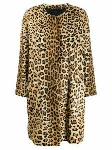Simonetta Ravizza Wendy leopard print coat - Neutrals