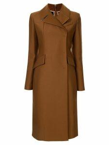 Nº21 slim-fit zipped back coat - Brown