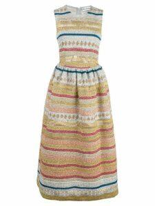 Molly Goddard striped midi dress - Silver