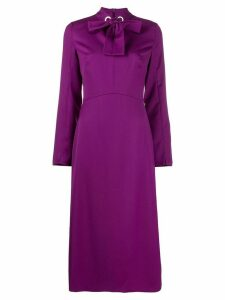 Escada bow neckline dress - Purple