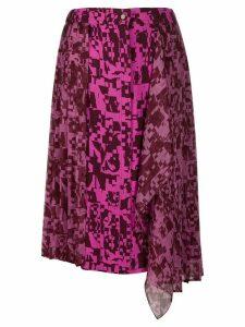 Iceberg pleated geometric-print skirt - PINK