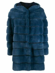 Simonetta Ravizza Cairo quilted coat - Blue