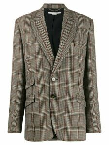 Stella McCartney single-breasted check blazer - Neutrals