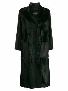 Simonetta Ravizza Ele double breasted coat - Black
