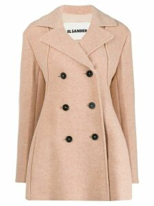 Jil Sander loose-fit double-breasted coat - Pink