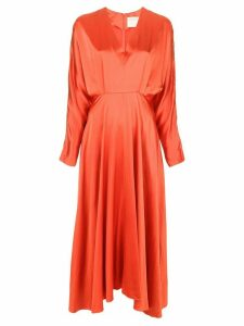 Alejandra Alonso Rojas pleated waist dress - Orange