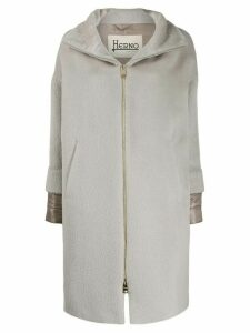 Herno padded cuff coat - NEUTRALS