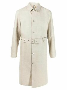 Jil Sander pointed collar trench coat - Neutrals