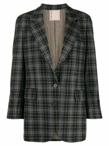 Antonio Marras check-print fitted blazer - Grey