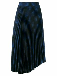 Vince tie-dye print pleated skirt - Black