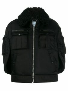 Prada oversized zip-front coat - Black