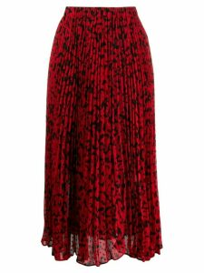 Michael Michael Kors floral print pleated midi skirt - Red