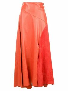 Alejandra Alonso Rojas buckled waist skirt - Orange