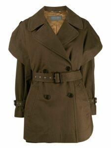 Alberta Ferretti short trench coat - Green