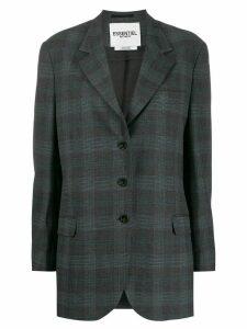 Essentiel Antwerp oversized check blazer - Grey
