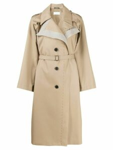 Maison Margiela deconstructed single-breasted trench coat - NEUTRALS