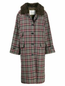 Mackintosh Forfar checkered long coat - Brown