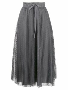 Red Valentino tulle pleated skirt - Grey