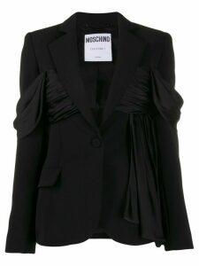 Moschino ruffle detailed blazer - Black