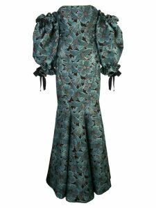 Zac Zac Posen floral print gown - Blue