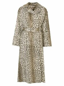 Emilia Wickstead leopard print belted waist coat - Brown