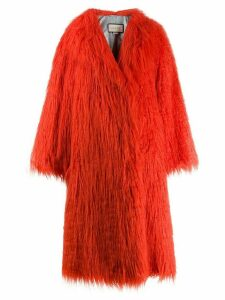 Gucci faux fur shaggy coat - Orange