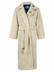Anton Belinskiy faux-shearling robe-coat - Neutrals