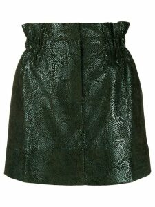 8pm snakeskin-effect high-rise skirt - Green