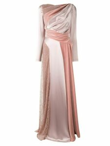 Talbot Runhof flared panelled gown - PINK