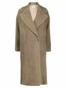 Semicouture oversized coat - Neutrals