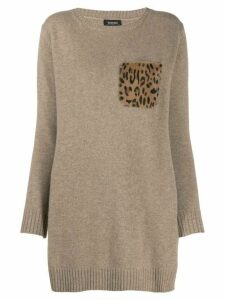 Simonetta Ravizza chest patch pocket jumper - Brown