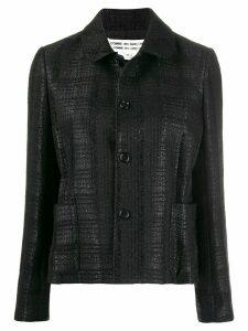 Comme Des Garçons Comme Des Garçons check pattern blazer - Black
