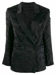Neil Barrett double breasted front fastening blazer - Black