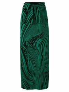 Rokh intarsia knitted skirt - Green