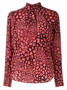 Cefinn dotted silk blouse - PINK
