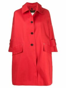 Mackintosh Humbie short overcoat - Red