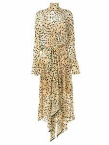 Petar Petrov floral pattern maxi dress - Yellow