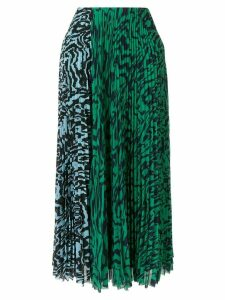 Solace London Nyomi pleated midi skirt - Green