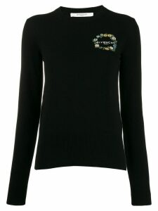Givenchy embroidered logo knit top - Black
