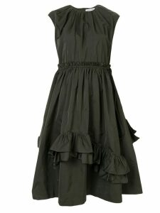 Dice Kayek asymmetric ruffle shift dress - Green