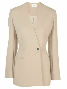 The Row Aimee crepe blazer - Brown