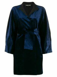 Le Petite Robe Di Chiara Boni Livia belted coat - Blue