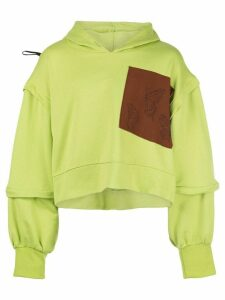 Barbara Bologna deconstructed oversize hoodie - Green