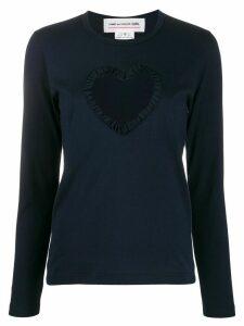 Comme Des Garçons Girl heart cut out top - Blue