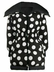 Dolce & Gabbana oversized polka dot print coat - Black