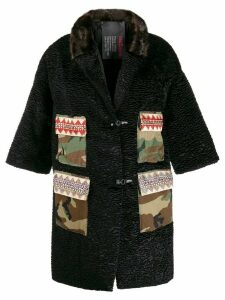 5 Progress camouflage print pocket coat - Black